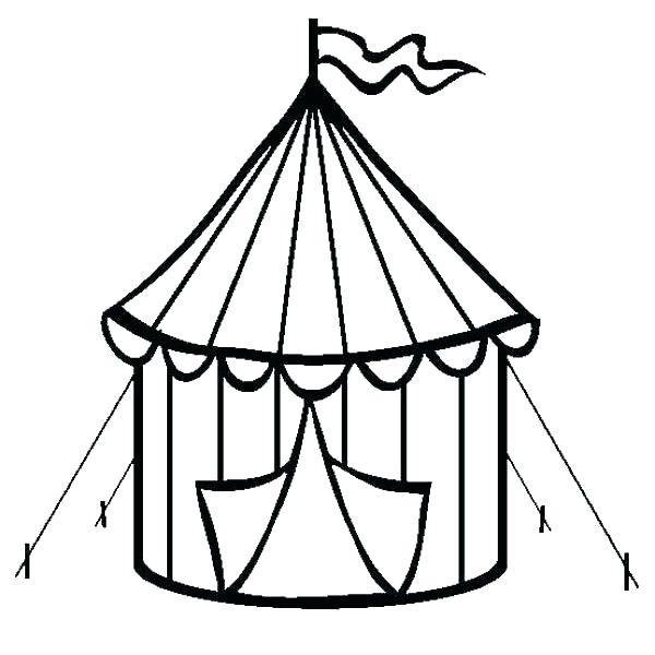 600x600 Tent Coloring Page Tent Coloring Page Circus Coloring Page
