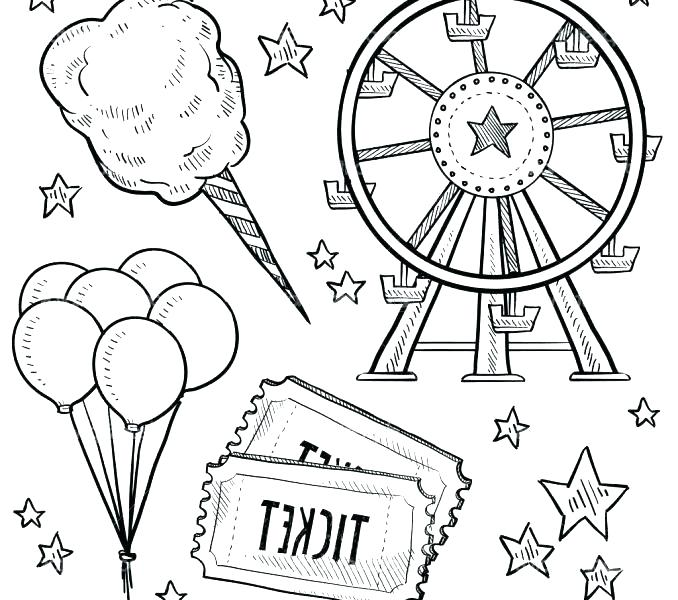 678x600 Carnival Coloring Page Carnival Of The Animals Coloring Pages