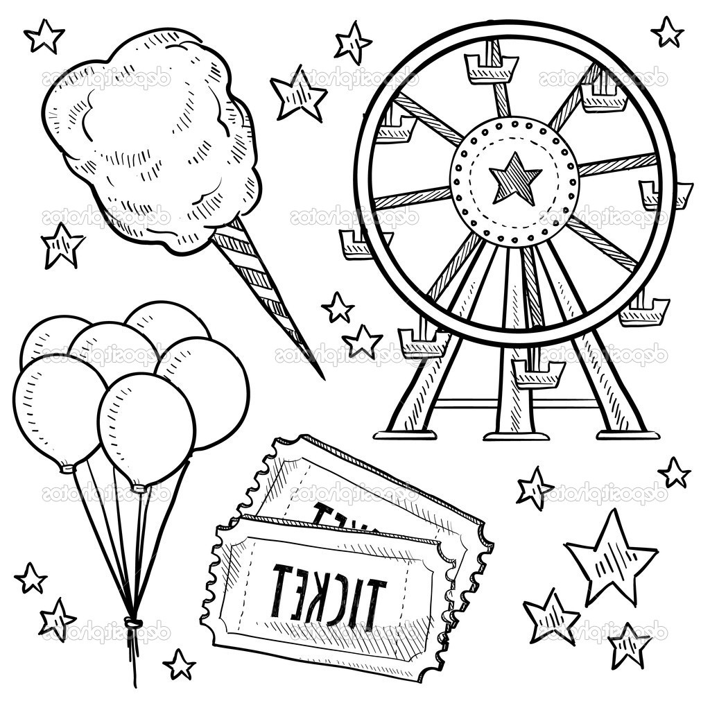 1024x1024 Carnival Coloring Pages