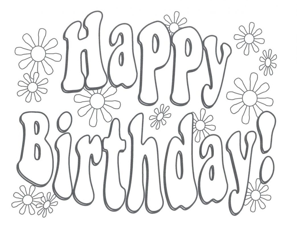 1043x800 Coloring Pages For Adults Easy Candle Birthday Numbers Carolers
