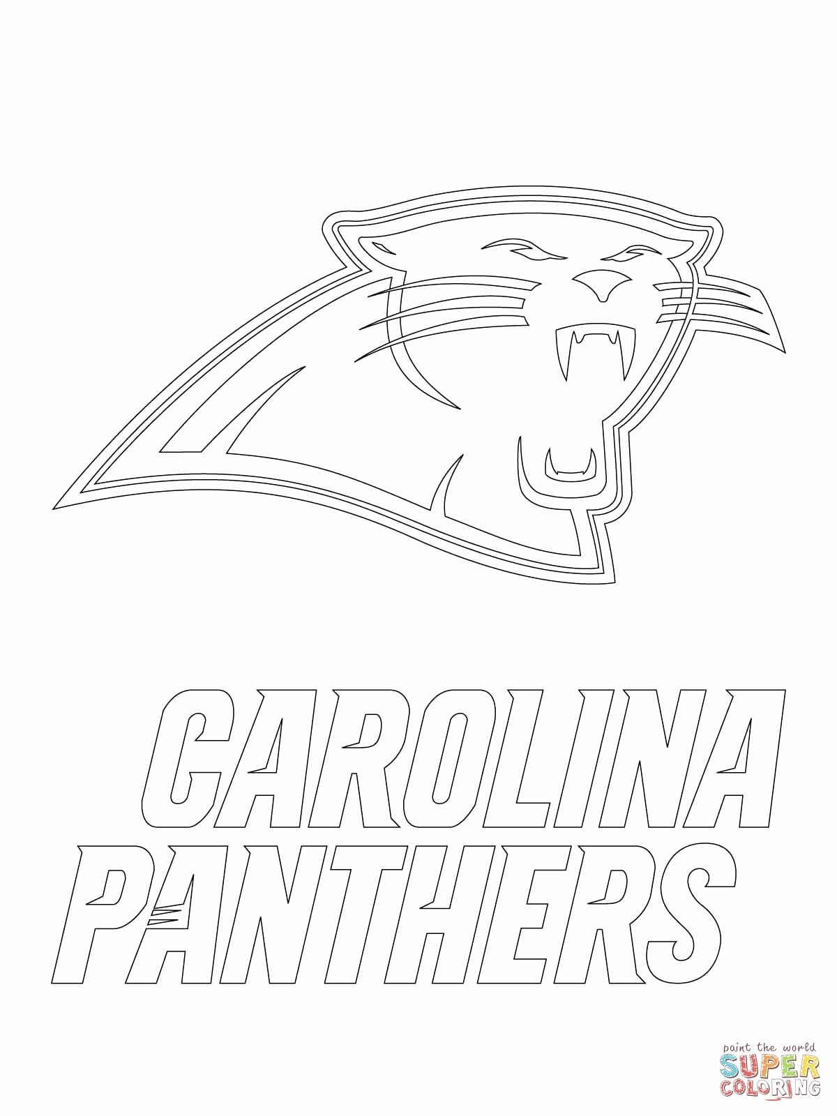 Carolina Panther Coloring Pages