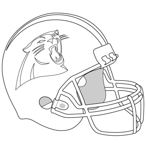 480x480 Carolina Panthers Coloring Pages Carolina Panthers Helmet Coloring