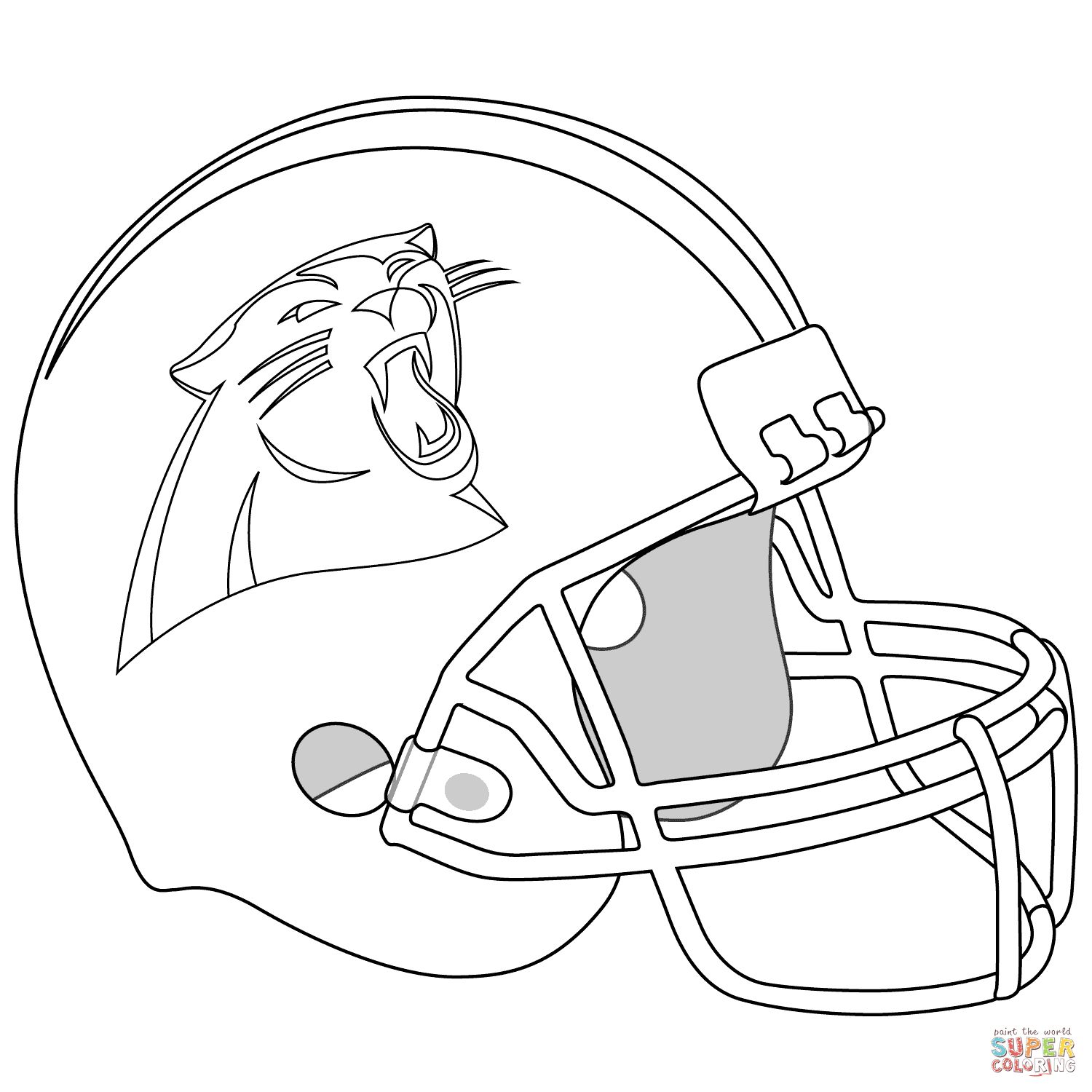1500x1500 Carolina Panthers Helmet Coloring Page On Panthers Coloring Pages