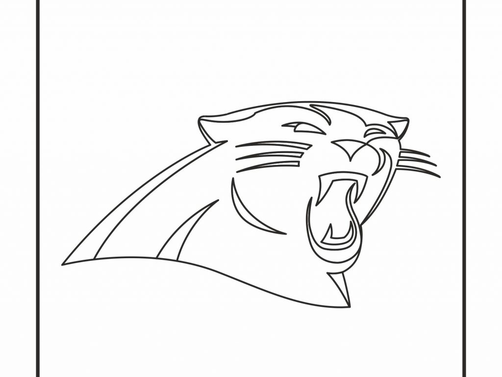 1024x768 Carolina Panthers Coloring Pages Crafty Design Logo