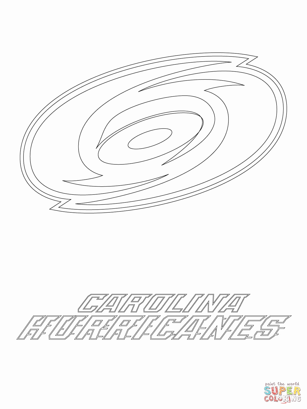 Carolina Panthers Logo Coloring Pages