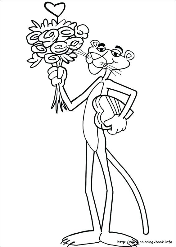 567x794 The Pink Panther Coloring Pages On Coloring Index Coloring Pages