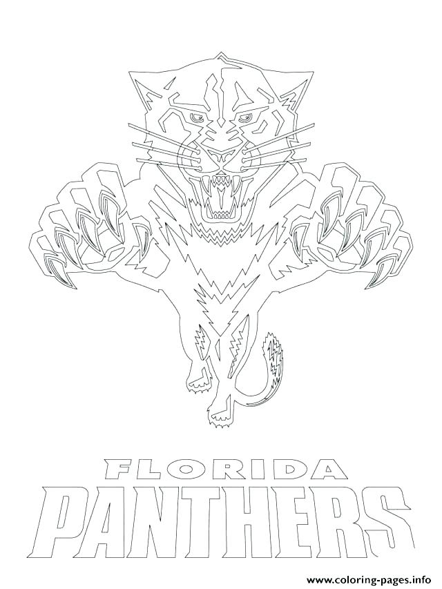 Carolina Panthers Logo Coloring Pages at GetDrawings ...