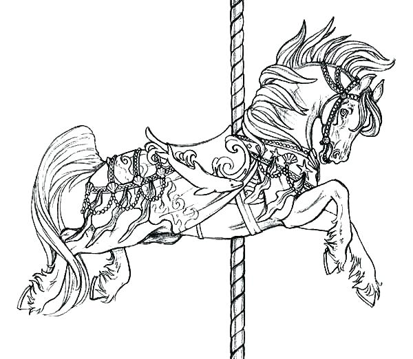 600x522 Carousel Coloring Pages Carousel Horse Color Good Carousel Animals