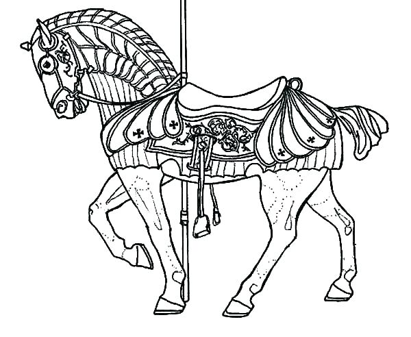 600x492 Printable Horse Coloring Pages Carousel Coloring Pages Carousel