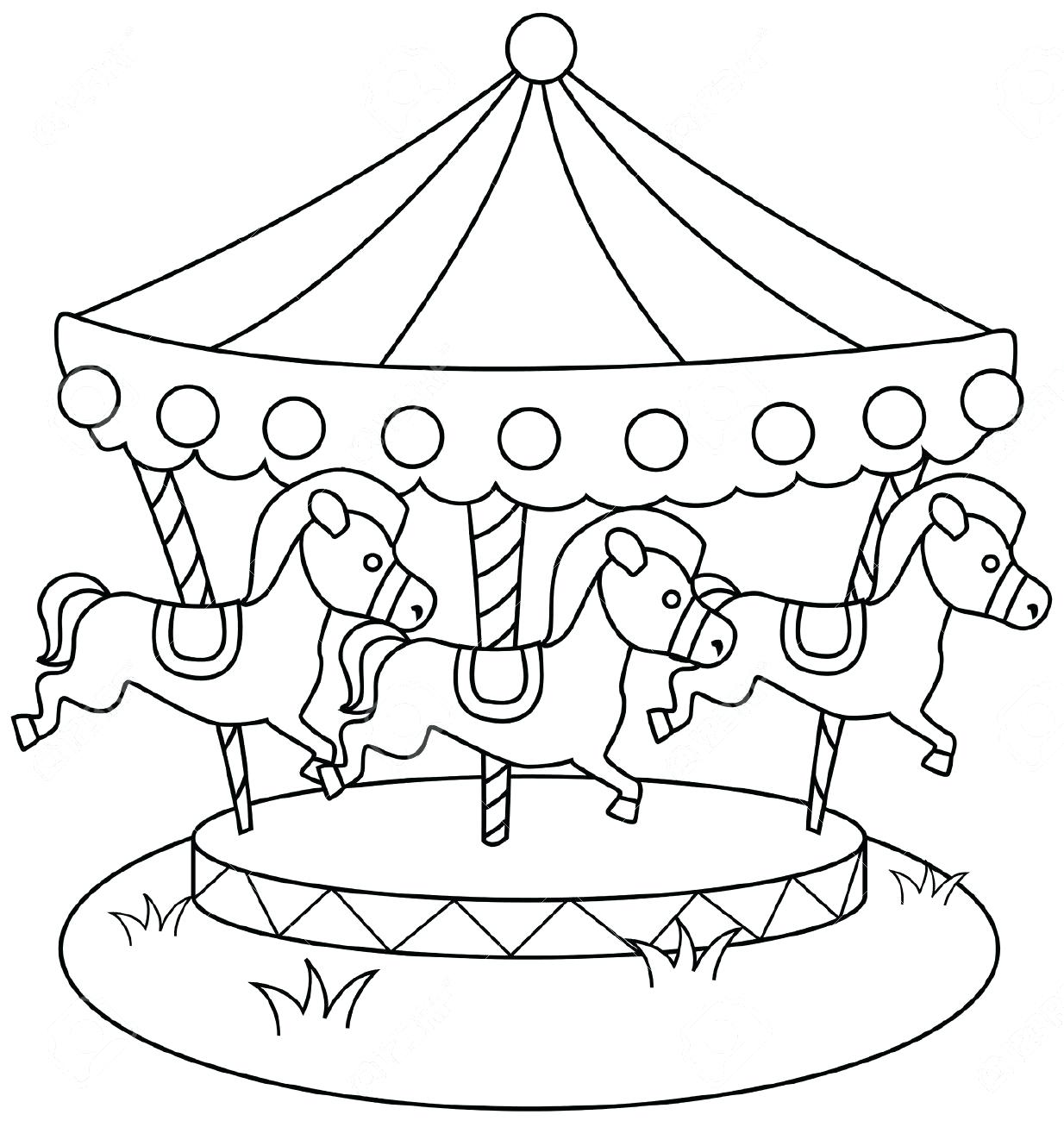 1234x1300 Carousel Coloring Pages High Definition Coloring Carousel