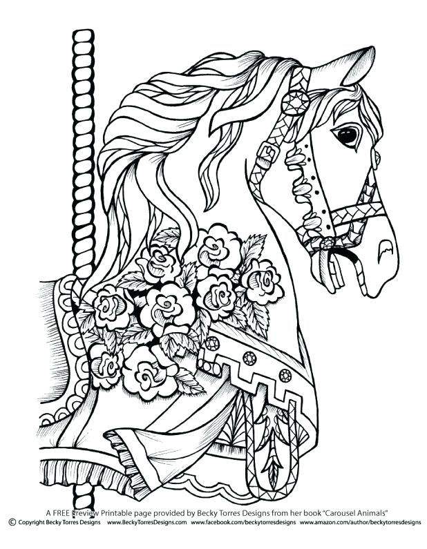 618x795 Carousel Animals Coloring Pages Share This Enchanting Carousel