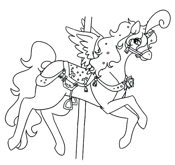 600x564 Carousel Coloring Page Amazing Carousel Colouring Pages