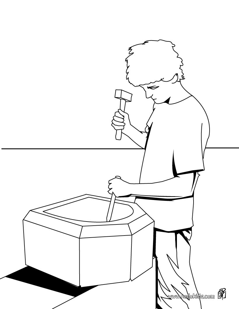 820x1060 Carpenter Coloring Page Amazing Way For Kids To Discover Job