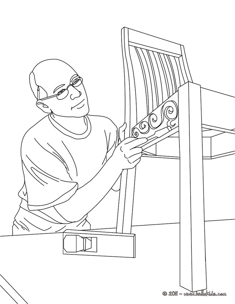 820x1060 Carpenter Job Coloring Page Amazing Way For Kids To Discover Job