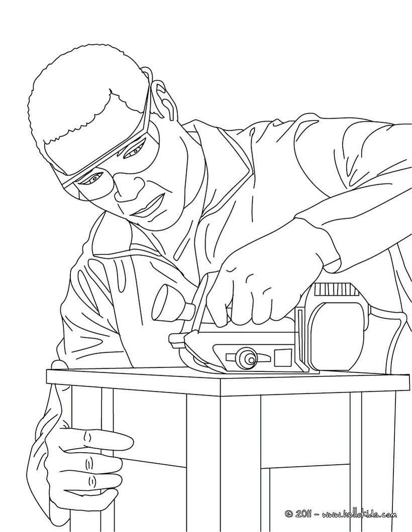 820x1060 Carpenter Making A Wood Chair Coloring Page Amazing Way For Kids