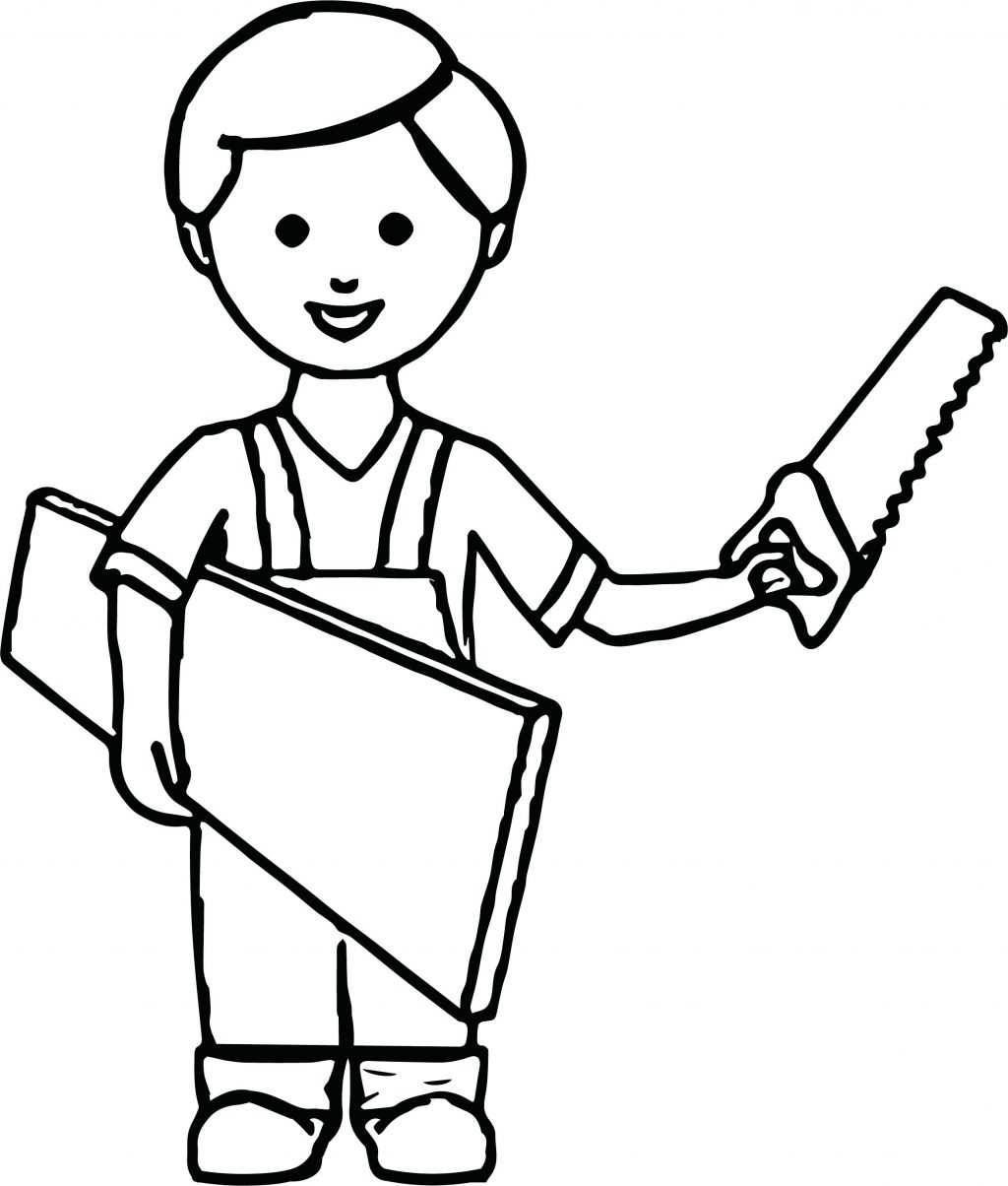 1024x1204 Coloring Page Boy Coloring Page Carpenter Pages New Baby Boy