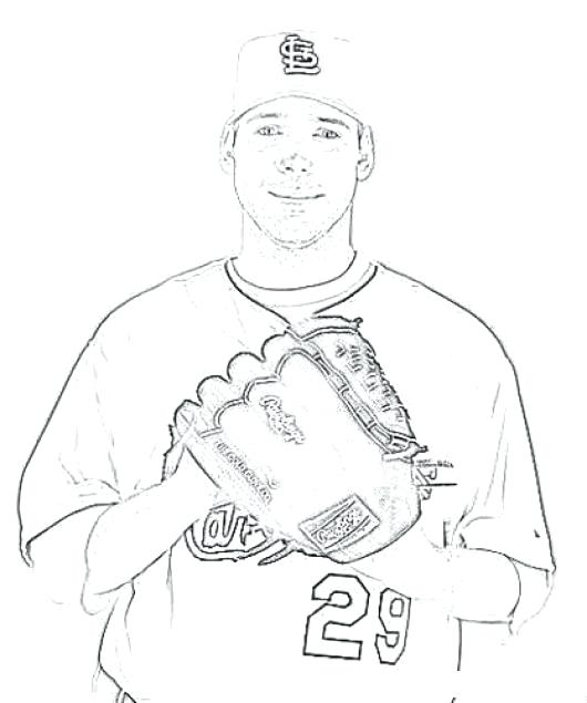 530x635 Fredbird Coloring Page This Is St Louis Cardinals Coloring Pages