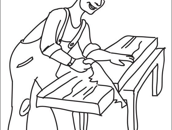 560x425 Carpenter Coloring Pages Joiner Coloring Page Coloring Pages