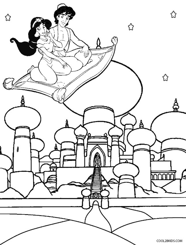 646x850 Printable Disney Aladdin Coloring Pages For Kids