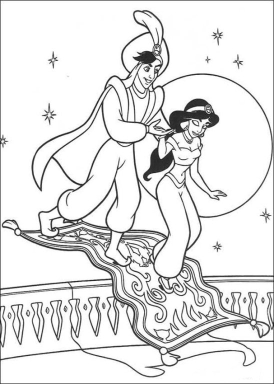 548x768 The Carpet Turn Into Stair Coloring Page Aladdin Pages