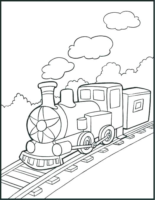 525x678 Train Coloring Pages For Kids