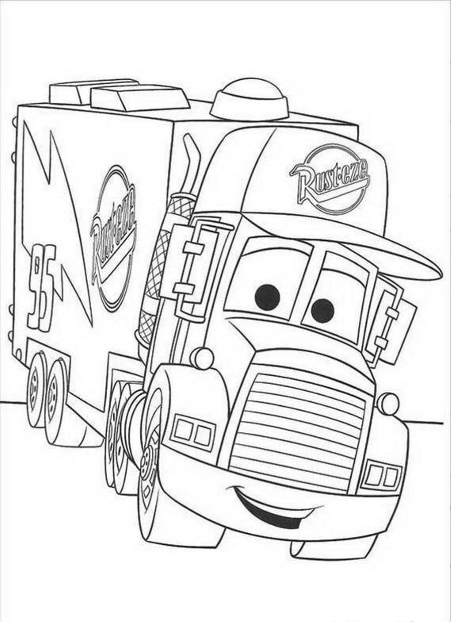 900x1240 Disney Cars Coloring Pages
