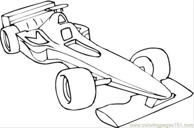 650x430 Formula Race Car Colouring Pages One Coloring Page Free Cars Uno