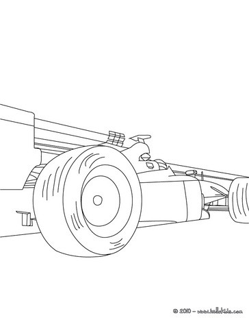 364x470 Formula Race Car Coloring Pages