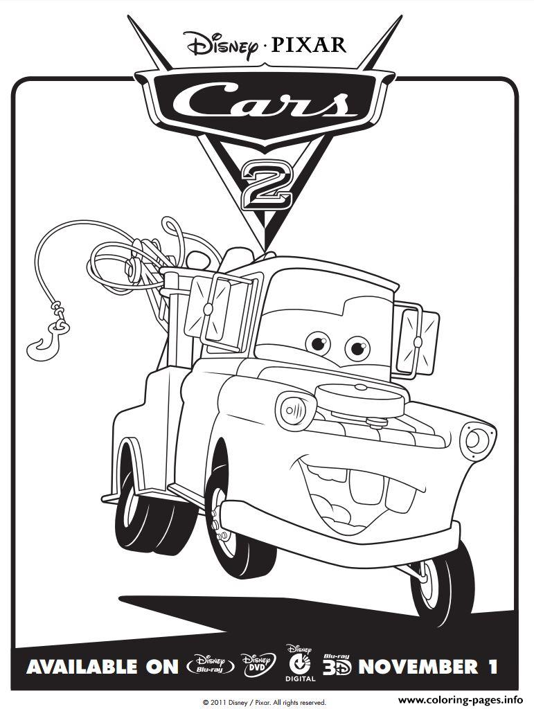 771x1024 Disney Cars Mater Coloring Pages Printable