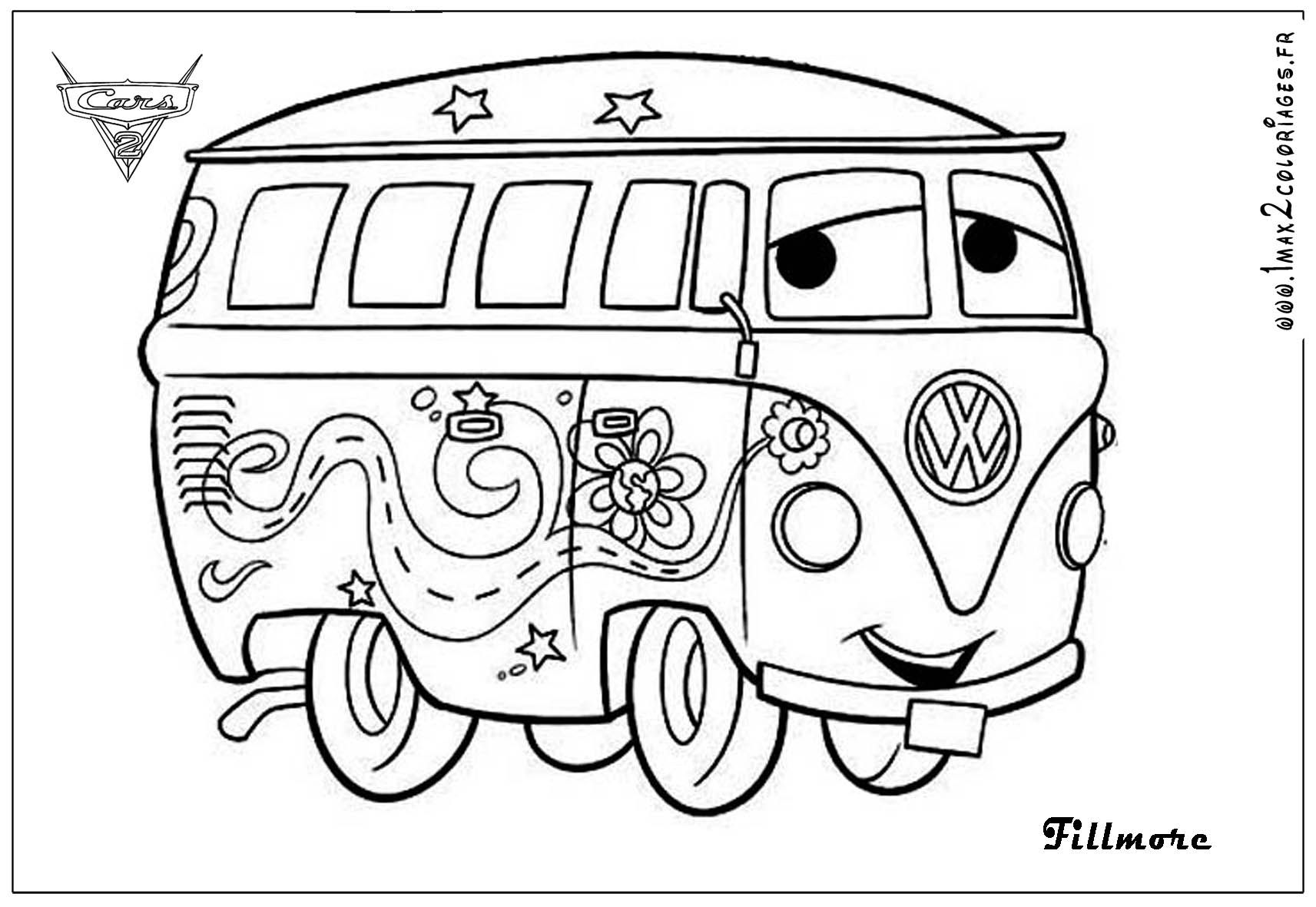 1713x1181 Cars Printable Coloring Pages Coloriages Fillmore Big