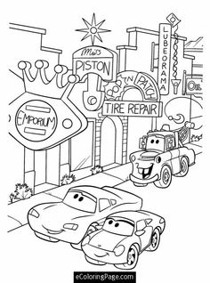 236x318 Free Disney Cars Coloring Pages Disney Cars Party