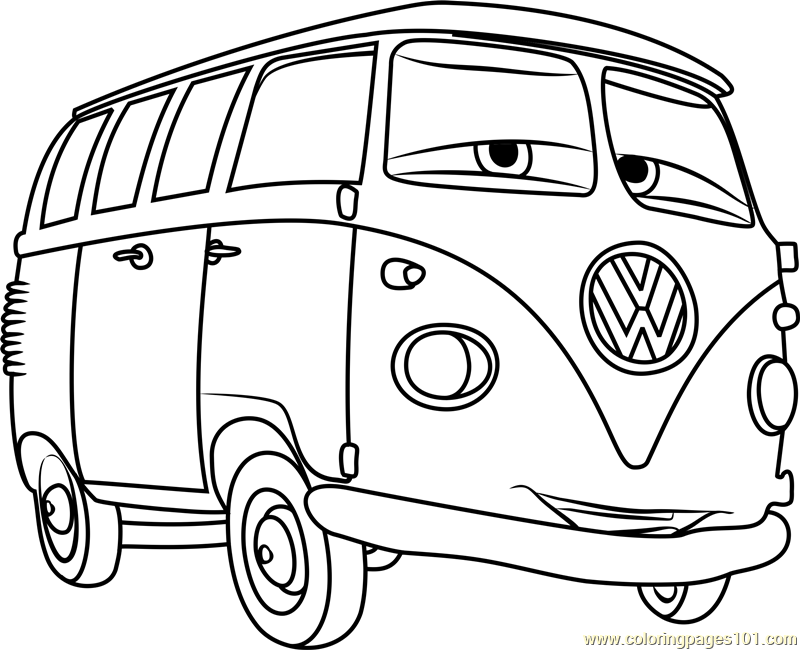 800x650 Fillmore From Cars Coloring Page