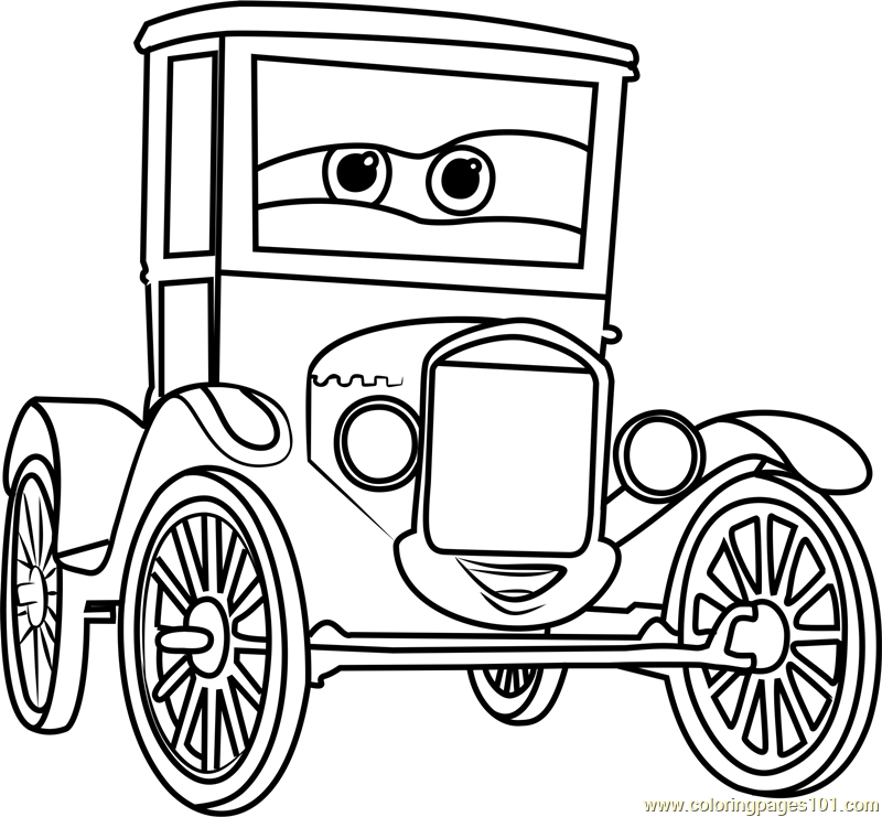 800x741 Lizzie From Cars Coloring Page
