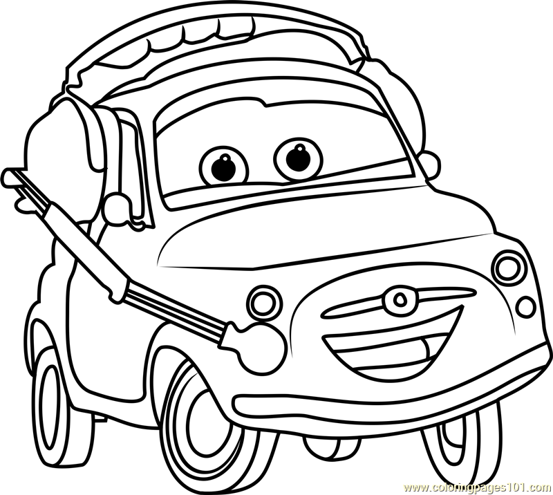 800x716 Luigi From Cars Coloring Page