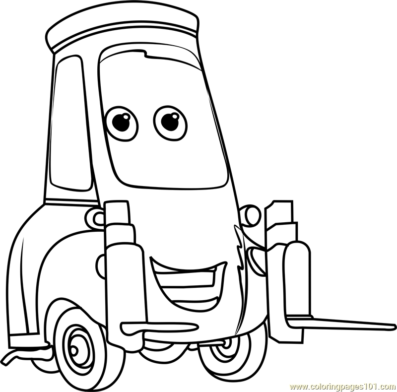 800x790 Cars Coloring Pages Guido From Cars Coloring Page Free Cars