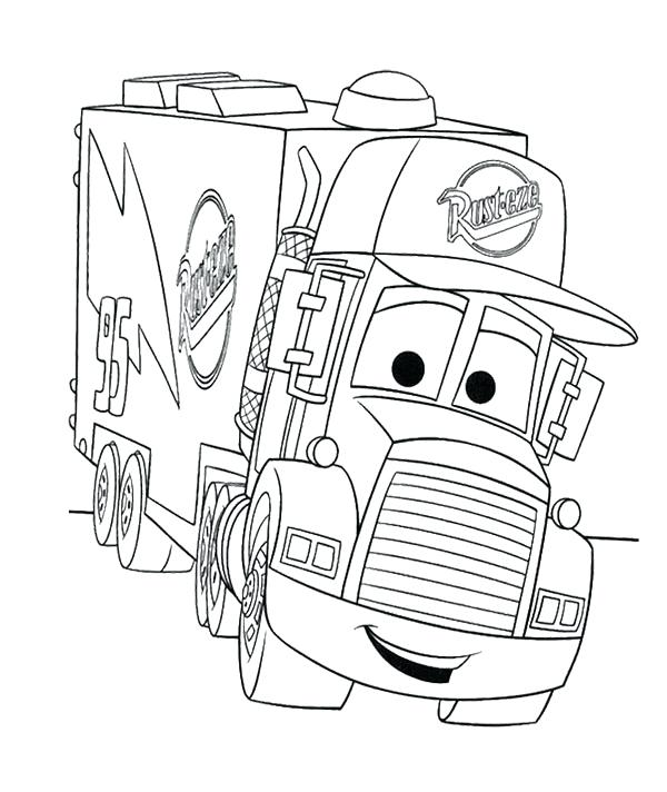 Cars Christmas Coloring Pages