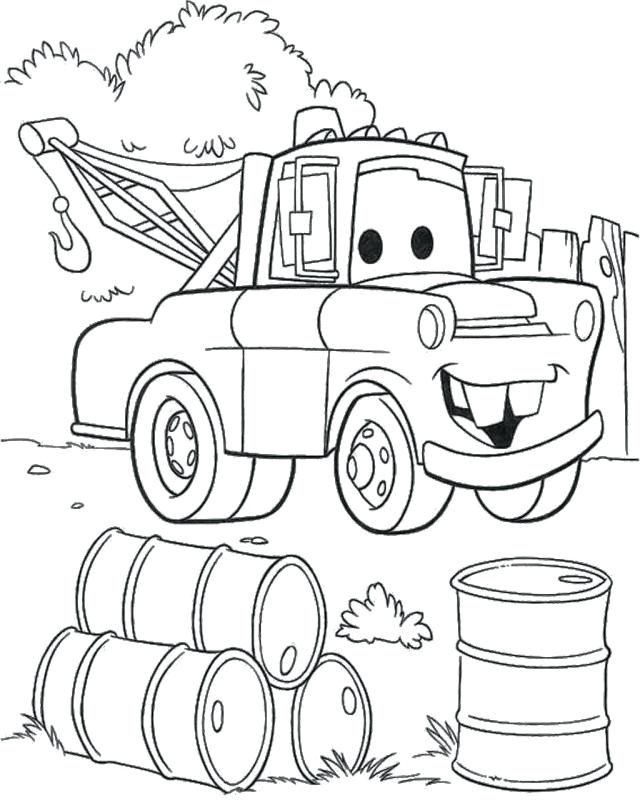 640x805 Cars Coloring Pages Mater From Cars Coloring Pages Cars Coloring