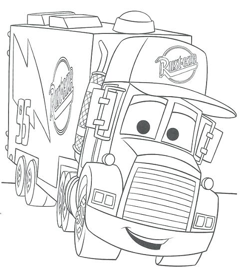 485x546 Mater Cars Coloring Pages Cars Coloring Pages For Boys Disney