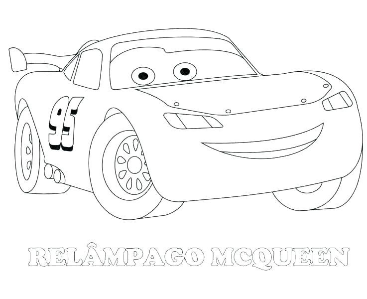 Cars Lightning Mcqueen Coloring Pages At Getdrawings Com Free For
