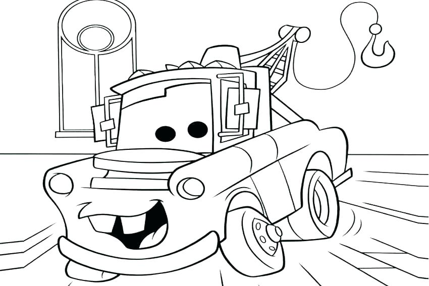 850x567 Mater And Lightning Mcqueen Coloring Pages Lightning Coloring Page