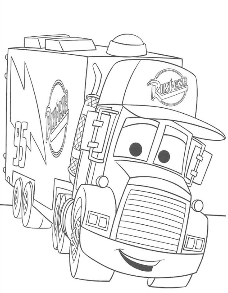 736x944 Cars Movie Coloring Pages Free Printable Coloring Pages For Kids