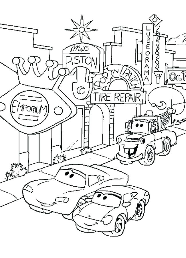 650x900 Coloring Car Pages Coloring Pages Of Car Cars Movie Coloring Pages