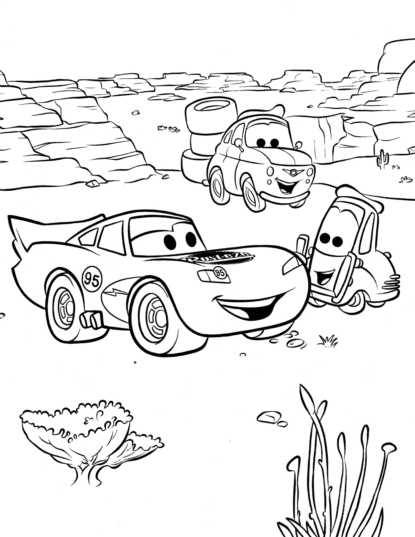 1700x2200 Cars Movie Coloring Pages Coloring Page Pedia And To Print