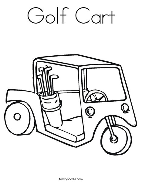 468x605 Golf Cart Coloring Page