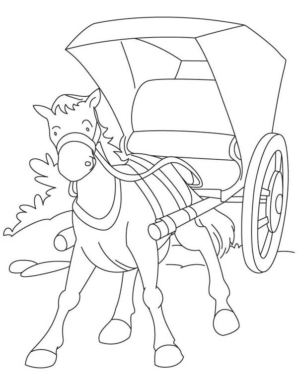 600x776 Horse Carriage In Middle Ages Coloring Page Color Luna