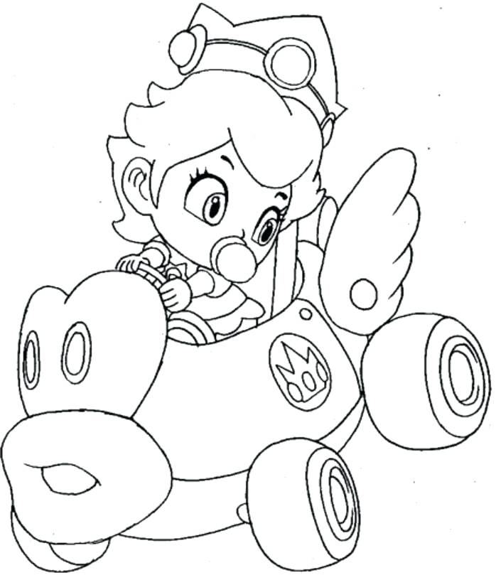 698x809 Mario Cart Coloring Pages Kart Coloring Pages Pics Of Kart