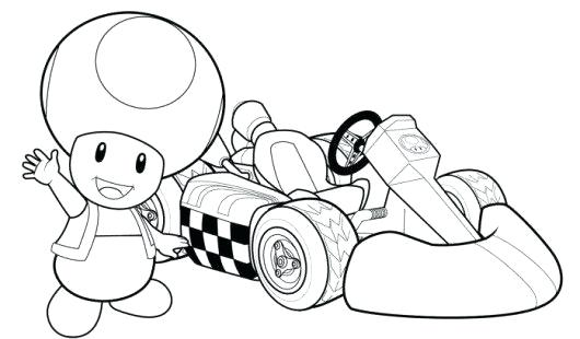 530x310 Mario Cart Coloring Pages Kart Coloring Pages Toad Mario Kart