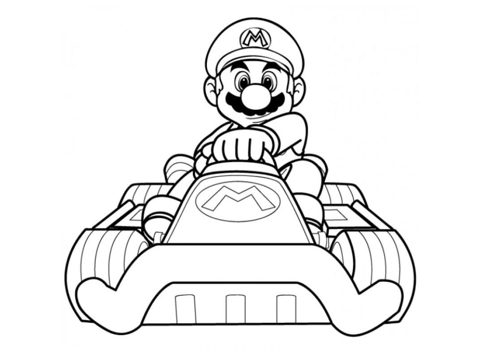 1608x1183 Mario Kart Video Games Printable Coloring Pages Amazing Cart Acpra