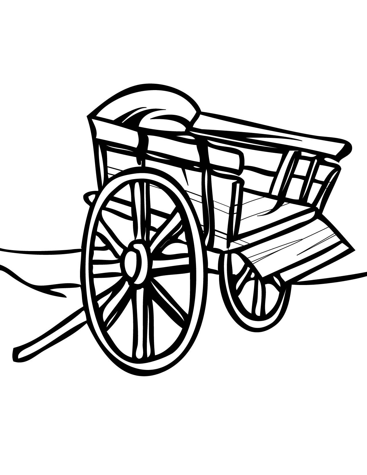 1275x1650 Cart Coloring Page