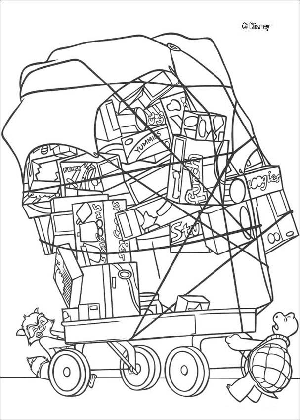607x850 Rj, Verne And A Food Cart Coloring Pages